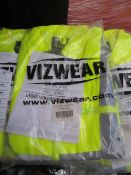 Vizwear - Polycotton Hi-Vis Yellow Jacket - Size Extra Large - New & Packaged.
