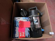 5x Various pumps This lot is a Machine Mart product which is raw and completely unchecked and