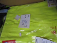 Click - Tesla FR-AS Hi-Vis Yellow Fire Resistant Work Trousers - Size 42 - Unused & Packaged.