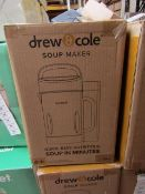 | 1X | DREW AND COLE SOUP MAKER | REFURBISHED AND BOXED | NO ONLINE RESALE ALLOWED | SKU - | RRP £