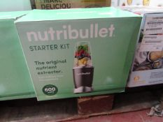 | 1X | NUTRI BULLET 600 SERIES STARTER KIT | REFURBISHED AND BOXED | NO ONLINE RESALE ALLOWED |