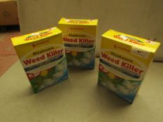 3x Pest Shield - Glyphosate Weed Killer Concentrate ( 3 Sachets Per Box) - Unused & Boxed.