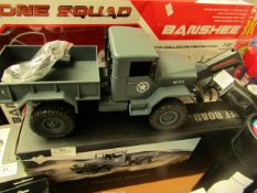 Off Road Racing - Remote Controlled Military Truck ( DieCast Model 1:16 ) - Untested & Boxed.