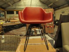 | 1X | HEKTOR TUB OFFICE CHAIR, TAN & BLACK | HAS SOME SCRATCH MARKS ON THE SIDES & BOXED | RRP £199