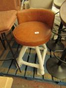 | 1X | CASS TWIST COUNTER STOOL - TAN | HAS 2 SMALL HOLE IN THE LEATHER | RRP £225 |