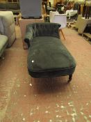 | 1X | MADE.COM VELVET CHAISE LOUNGER | MISSING A LEG AND NO MAJOR DAMAGE | RRP CIRCA £450 |