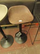 | 1X | COX & COX FAUX LEATHER COUNTER STOOL - BROWN | LOOKS UNUSED (NO GUARANTEE) | RRP £150 |