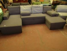 | 1X | MADE.COM U-SHAPE SOFA BED | HAS DAMAGE IN STORAGE AREA AND MAY HAVE FEW MARKS AND SCUFFS |