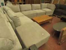 Mstar 6 piece modular sofa set, may have marks, scuffs and other imperfections but does not appear