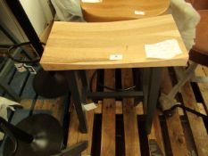| 1X | COX & COX CURVED TOP TOPPED COUNTER STOOL - ANTHRACITE | LOOKS IN DECENT CONDITION | RRP £250