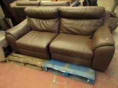 Costco 3 seater leather sofa, no major damage.