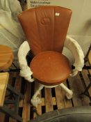 | 1X | COX & COX INDUSTRIAL STYLE OFFICE CHAIR - BROWN | LOOKS FINE | RRP £325 |