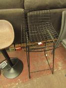 | 1X | COX & COX BLACK IRON COUNTER STOOL | LOOKS IN GOOD CONDITION | RRP £250 |