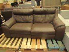 Costco leather 2 seater sofa, no major damage.