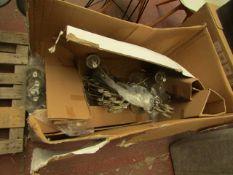   1X   COX & COX ELEGANT METAL CHANDELIER 119CM   UNCHECKED IN DAMAGED PACKAGING   RRP £225  