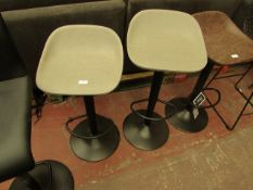 | 1X | SET OF 2 COX & COX FAUX LEATHER COUNTER STOOL - GREY | UNCHECKED & LOOKS UNUSED (NO GURANTEE)