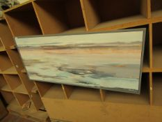   1X   COX AND COX ABSTRACT TUDES CANVAS   HAS A SMALL CHIP AT THE BOTTOM CORNER   RRP CIRCA £250  