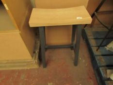 | 1X | COX & COX CURVED TOP TOPPED COUNTER STOOL - ANTHRACITE | LOOKS IN DECENT CONDITION &