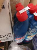 6x 750ml bottles of Power 24 bleach, some labels may be discoloured from the bleach leaking in the