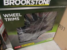 "Brookstone - Ignition 14"" Set Of 4 Wheel Trims - Unchecked & Boxed."