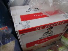 1.62KG (60 Sachets) box of Quaker Oats So simple Original, BB 13/11/21