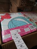 Disney Princess - Mermaid Curtain Set ( 168 x 137 cm ) - New & Packaged.