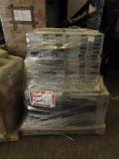 Pallet of what looks to be mainly Rack servers with the hard drives taken out, other items may be on
