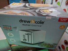 | 1X | DREW AND COLE RAPID 2 SLICE TOASTER | REFURBISHED AND BOXED | NO ONLINE RESALE ALLOWED |