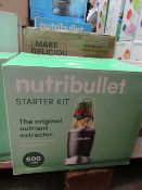| 1X | NUTRI BULLET 600 SERIES STARTER KIT | REFURBISHED AND BOXED | NO ONLINE RESALE ALLOWED |