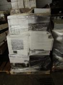 Pallet of approx 18 Printers fromHp and other Brands, all unchecked and unworked,Please read lot