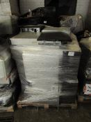 Pallet of approx 15 PC Servers and server related items, all unchecked but would imagine the hard