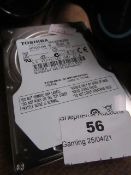 Toshiba 320GB disk drive, Unchecked.