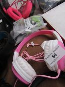 Groove Girls' Headphones, Tested Working for Sound Only.
