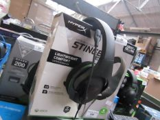 XBOX Stinger Headphones, Tested Working for Sound Only & Boxed.