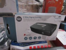 SLX 2 way signal booster, unchecked and boxed.