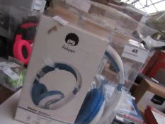 Rock Pappa music headphones, unchecked and packaged.