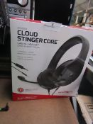 HyperX Cloud Stinger Core Gaming Headset compatable with multiple gaming devices including PC