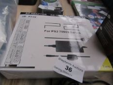 PS2 70000 Series AC adaptor, Unchecked & Boxed.
