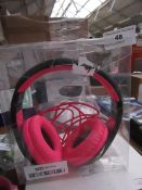 Pink & Black Headphones, Unchecked & Packaged.