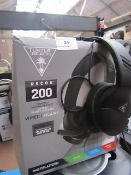 Turtle Beach Recon 200 Wired Headphones, Untested due to no charge & Boxed.