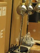| 1X | MADE.COM JONAS TABLE LAMP BLACK & BRUSHED BRASS & SMOKED GLASS | UNCHECKED AND BOXED | RRP £