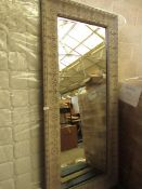 | 1X | COX & COX AVA EMBOSSED FULL LENGTH MIRROR | HAS A SMALL CRACK AT THE TOP LEFT OF THE