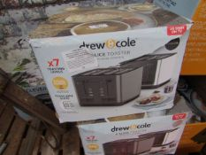 | 3X | DREW AND COLE 4 SLICE TOASTER | UNCHECKED AND BOXED | NO ONLINE RESALE | SKU - | RRP £69.99 |