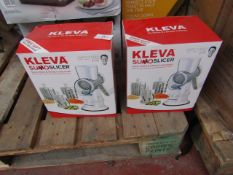 | 2X | KLEVA SUMO SLICER | UNCHECKED & BOXED | NO ONLINE RESALE | SKU - KSUMOS03 | RRP £39 | TOTAL