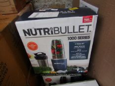 | 2X | NUTRI BULLET 1000 SERIES | UNCHECKED AND BOXED | NO ONLINE RESALE | SKU C5060191464734 |