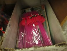 Box Containing Approx 5+ Household Items Being: Straws, Pencil Sets, Desk light Etc.
