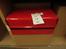 3x Red Wall Paper Holder ( H.145xW.260xD.125mm) - New & Boxed.