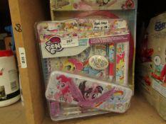 1x Soy Luna - Wall Clock - Unused & Packaged. 1x My Little Unicorn - Stationar Set - Unused &