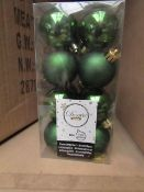 | 1X | BOX OF 36X PACKS OF COX AND COX 16 DECORIS SEASON SHATTERPROOF BAUBLES | NEW AND PACKAGED |