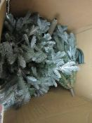 | 1X | COX & COX BLUE MOUNTAIN SPRUCE PRE LIT XMAS TREE | UNCHECKED BUT BOX SAYS PRESS LOAN | RRP £-